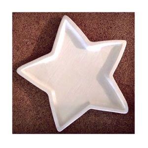 Creative Co-op Ceramic Textured Star Plate